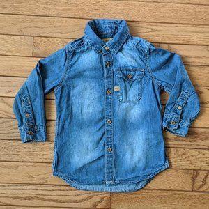 Zara Boys Denim Jean Top Size 3/4